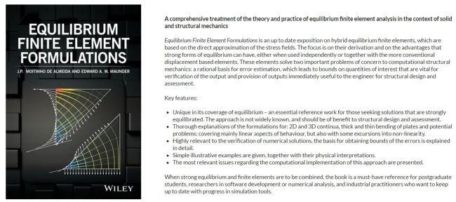 Equilibrium Finite Element Formulations -