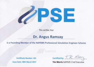NAFEMS Registered Analyst Certificate