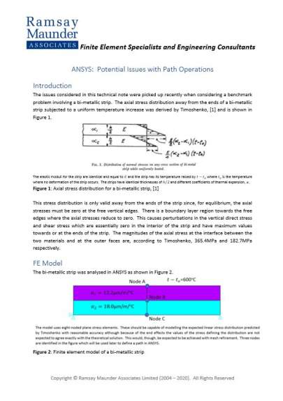 ANSYS:  Potential Issues with Path Operations