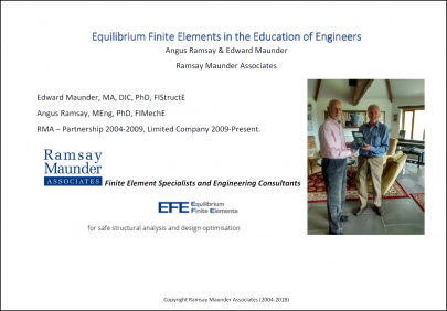 EFE in the Education of Engineers