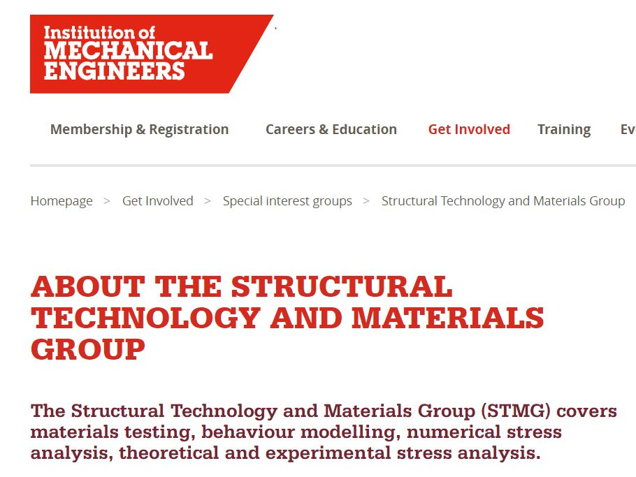 Structural Technology & Materials Group at IMechE