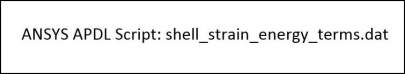 Shell Strain Energy Terms
