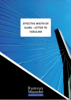 Effective Width of Slabs - Letter to Verulam